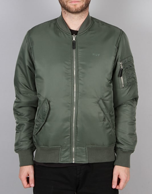 HUF Elite Reversable MA-1 Jacket - Olive Drab/Black