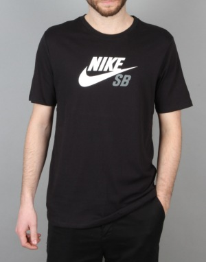Nike SB Dri-FIT Icon Logo T-Shirt - Black/White/Tumbled Grey