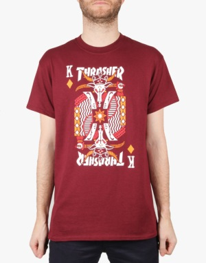 Thrasher King of Diamonds T-Shirt - Maroon