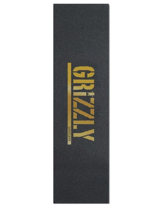 "Grizzly Stamp 9"" Grip Tape Sheet - Black/Gold"