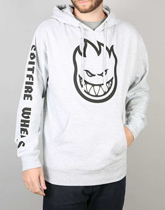 Spitfire Bighead Fill Pullover Hoodie - Grey Heather