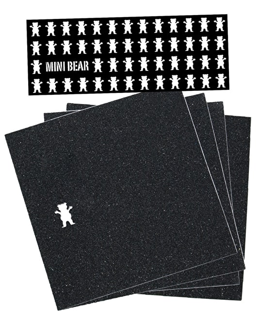 "Grizzly Mini Bear Squares 9"" Grip Tape Sheet"