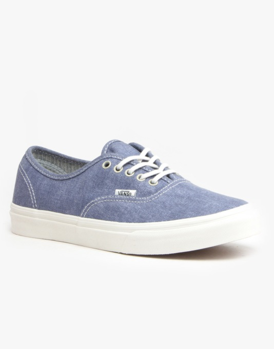 784a4f9cfe Vans Authentic Slim - (Stripes) Washed  Navy