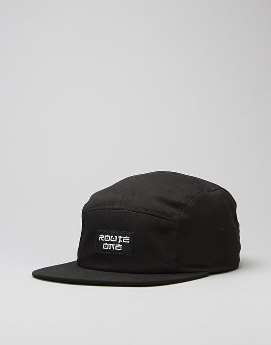 Route One Fastplant 5 Panel Cap - Black