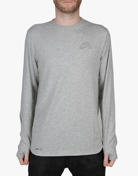 Nike SB Skyline Dri-FIT Cool Crew - Dk Grey Heather/Reflective Silver