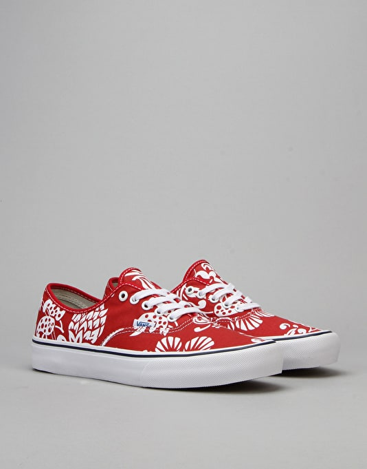 Vans Authentic Pro Skate Shoes - 66 Duke/Red/White
