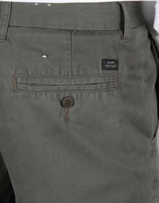 "Globe Goodstock Short Chino Walkshort 17"" - Dark Olive"