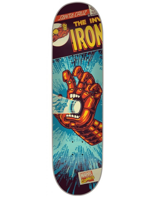 Santa Cruz x Marvel Iron Man Hand Team Deck - 8""