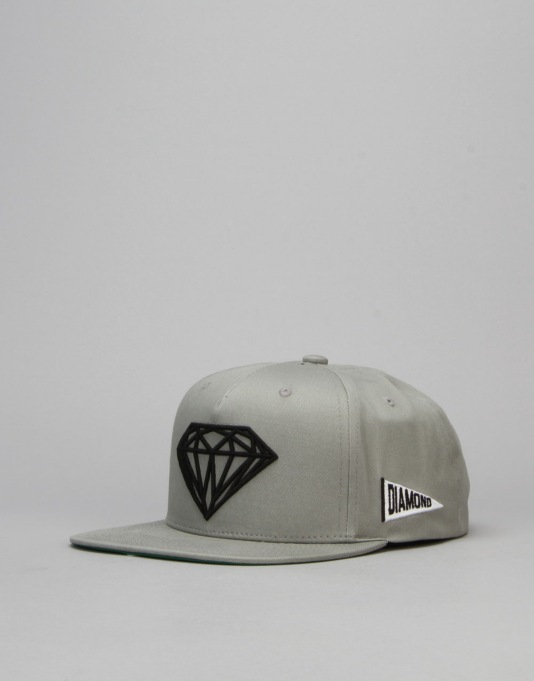 Diamond Supply Co. Brilliant Snapback Cap - Heather Grey