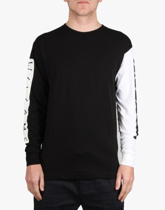 Welcome Invert L/S T-Shirt - Black/White