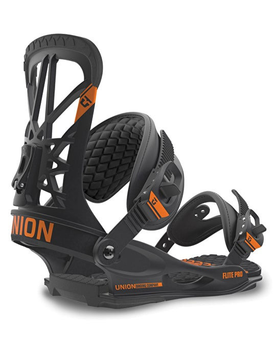 Union Flite Pro 2016 Snowboard Bindings - Black