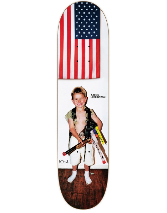 Polar Herrington Guns Skateboard Deck - 8.125""