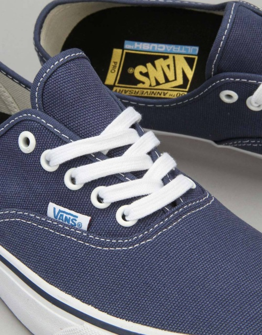 Vans Authentic Pro Skate Shoes - 74 Navy/White