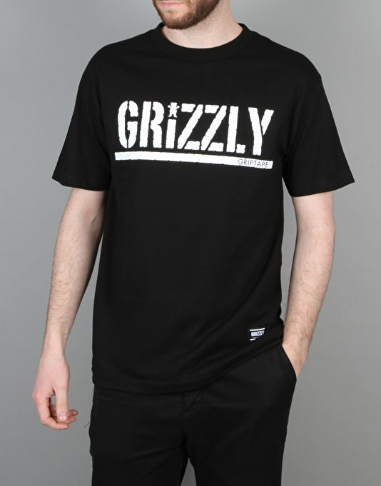 Grizzly OG Stamp Logo T-Shirt - Black