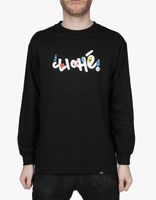 Cliché x Mr. Men Handwritten L/S T-Shirt - Black