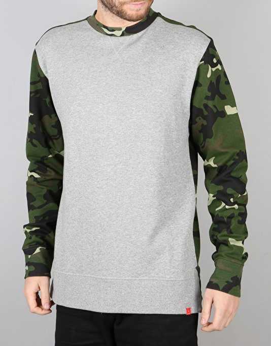 Asphalt Yacht Club Split Crew Neck - Camo/Heather Grey
