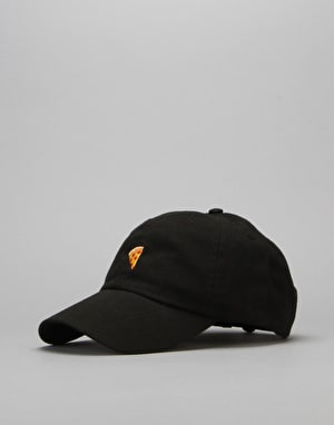 Pizza Emoji Delivery Boy Cap - Black