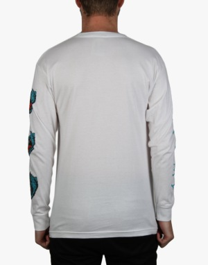 Welcome Tasmanian L/S T-Shirt - White/Teal