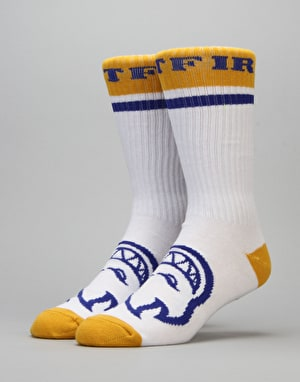 Spitfire OG Classic Calf Socks - White/Blue/Yellow