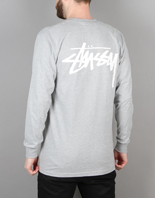 Stüssy Original Stock L/S T-Shirt - Heather