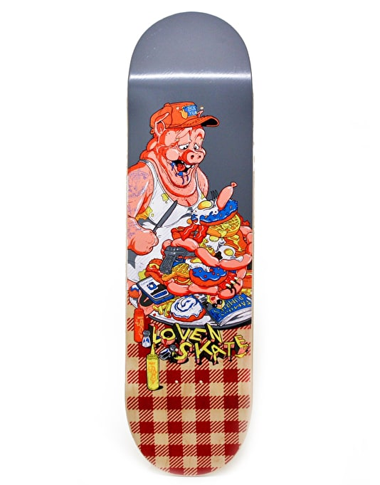 Lovenskate American Breakfast Skateboard Deck - 8.7""