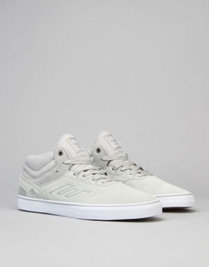 Emerica Westgate Mid Vulc Skate Shoes - Grey/White