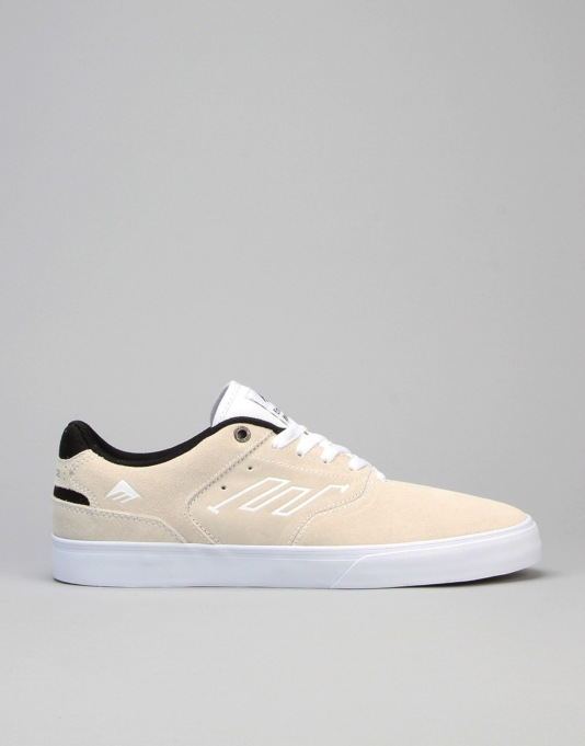 Emerica The Reynolds Low Vulc Skate Shoes - White/Black