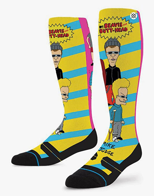 Stance Beavis And Butthead 2016 Snowboard Socks - Black