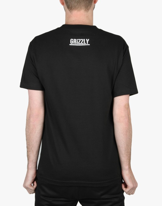 Grizzly Hover Bear T-Shirt - Black