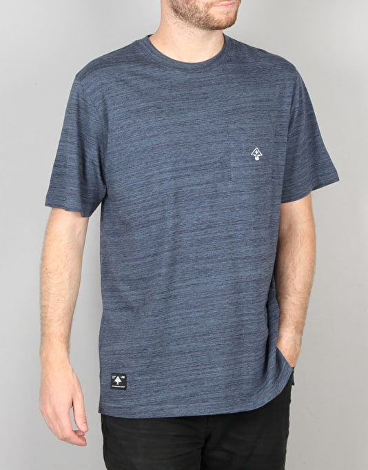 LRG All Natural S/S Knit T-Shirt - Navy Heather