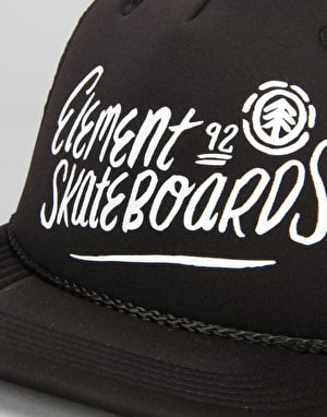 Element Slogan Trucker Cap - All Black