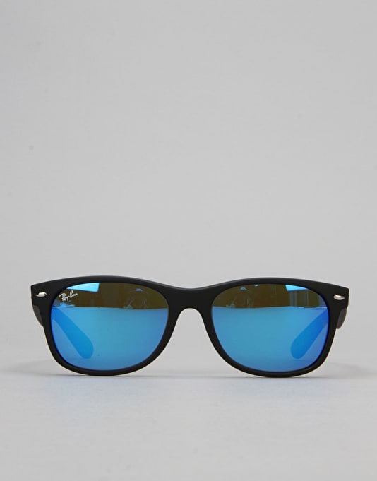 Ray-Ban New Wayfarer Sunglasses - Black/Flash Blue RB2132 62217 55
