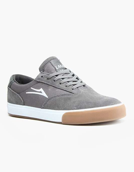 Lakai Guymar Skate Shoes - Grey/Gum Suede