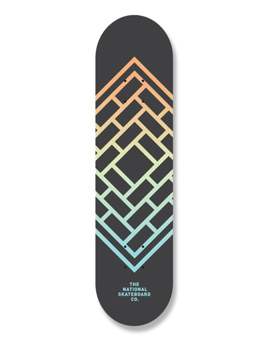 The National Skateboard Co. Fade Team Deck - 8.5""