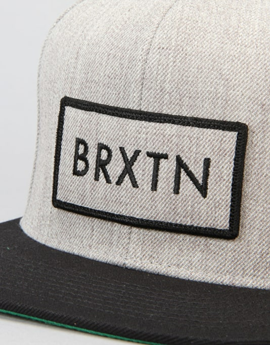 Brixton Rift Snapback Cap - Light Heather Grey/Black