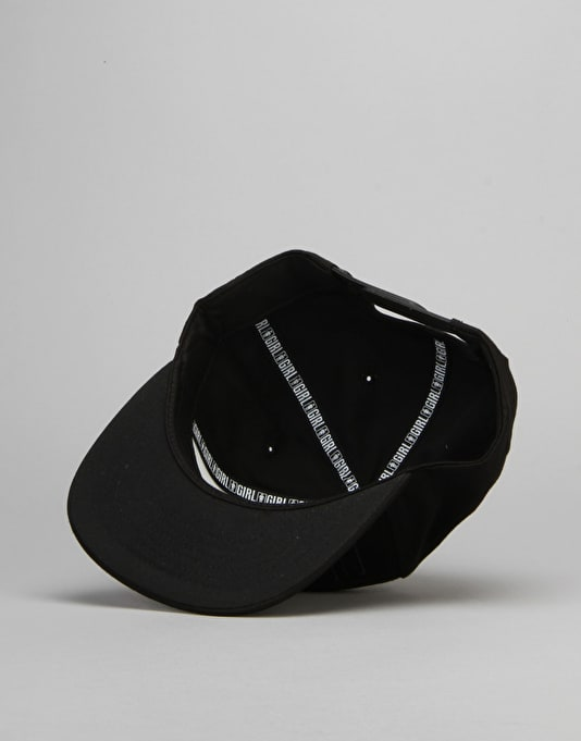 Girl Bars Snapback Cap - Black