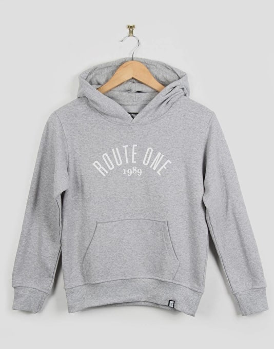 Route One Boys Logo Pullover Hoodie - Grey