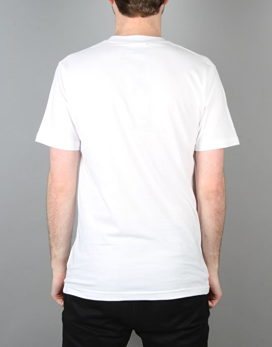 Hype Repeat Leaf Circle T-Shirt - White