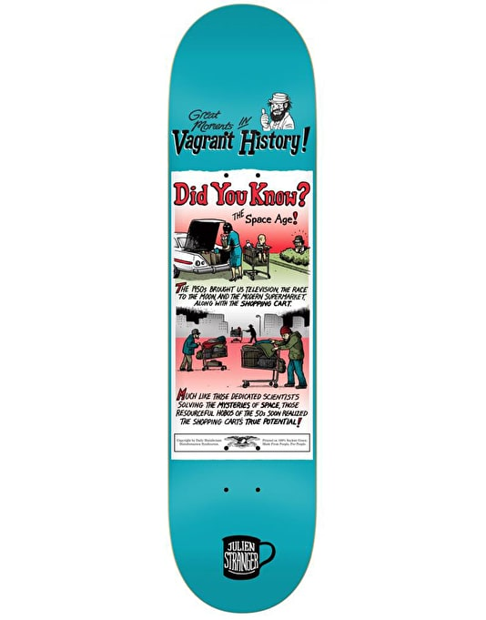 Anti Hero Stranger Vagrant History Pro Deck - 8.18""