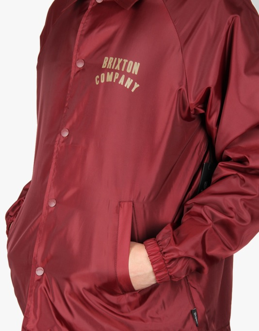 Brixton Woodburn Windbreaker Jacket - Burgundy