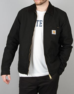 Carhartt Detroit Jacket - Black/Black Rinsed