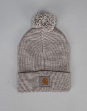 Carhartt Bobble Watch Hat - Grey Heather