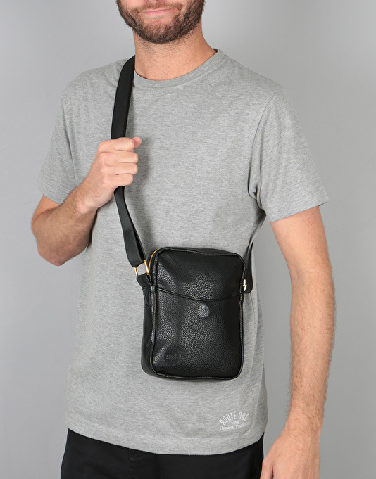 Mi-Pac Tumbled Flight Cross Body Bag - Black
