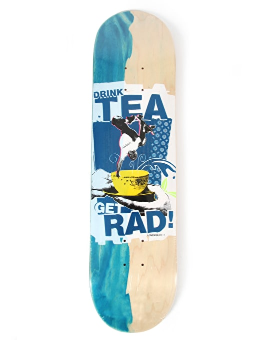 Lovenskate Drink Tea Get Rad Side Dip Dye Team Deck - 8.5""