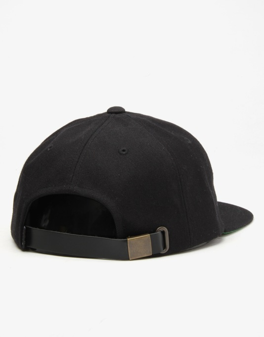 HUF x Thrasher Vintage Baseball 6 Panel Cap - Black