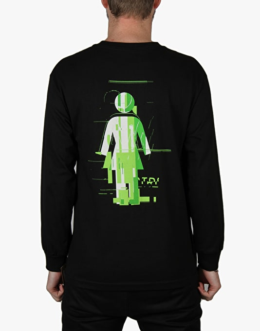 Girl Glitch Mode L/S T-Shirt - Black