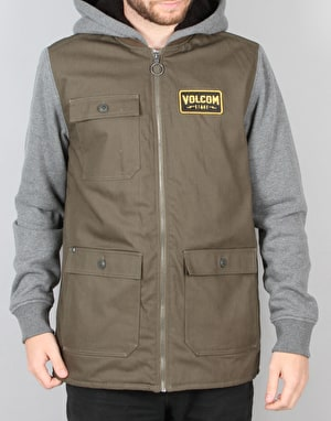 Volcom Battalion Lined Zip Jacket - Military