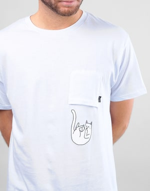 RIPNDIP Falling For Nermal Pocket T-Shirt - White