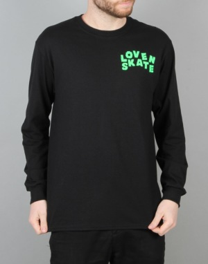 Lovenskate Skate Curb L/S T-Shirt - Black