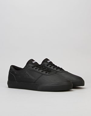 Lakai Machester Skate Shoes - Black/Black